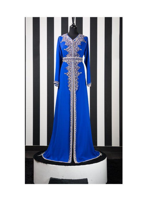 Caftan Perlé bleu roi – Princesse d un soir  15230c071c6