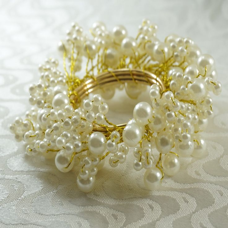 Aliexpress.com: Comprar Qn16031601 anillo de servilleta perla beaedes decoración, venta al por mayor de la boda servilletero de soporte holder fiable proveedores en Qingdao Quaeas Manufacture Co., Ltd.