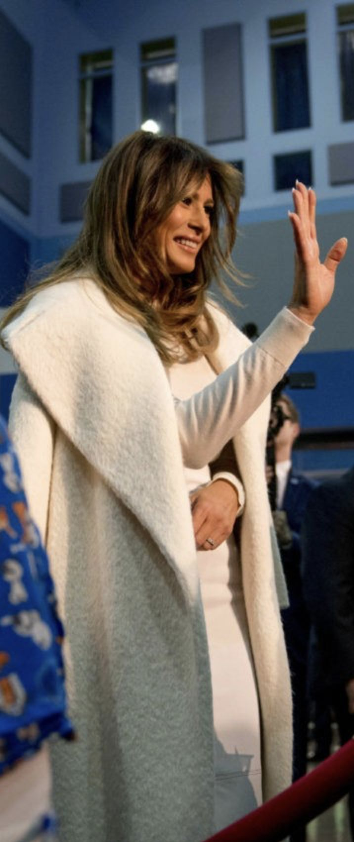 First Lady Melania Trump in Max Mara visiting National Children's Hospital