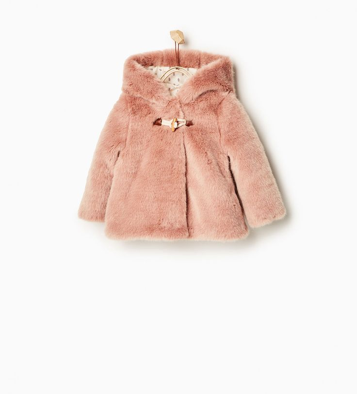 Three quarter length faux fur coat-COATS-Baby girl-Baby   3 months - 3 years-KIDS   ZARA United States
