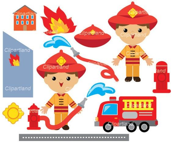 INSTANT DOWNLOAD. Fireman clip art. Boy clip art. Cf_1. Personal and commercial use.