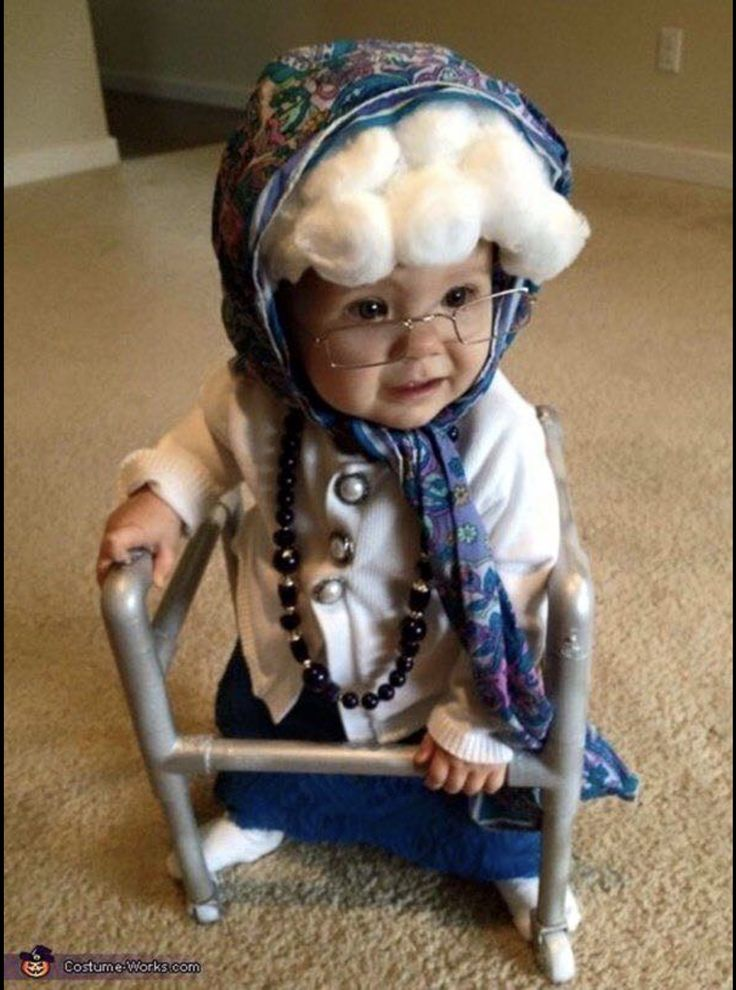 Old Lady Baby Costume