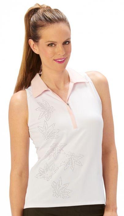 Nancy lopez ladies plus size sleeveless golf polo shirts for Plus size sleeveless golf shirts