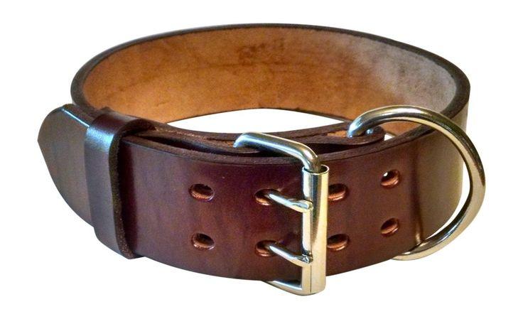 Pitbull & Large Breeds Leather Dog Collar - Free Personalization  Mahogany #pitbulls