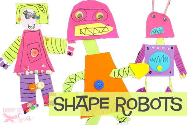 Shape-Robots-Deep Space Sparkle great for shape and cutting  assessment