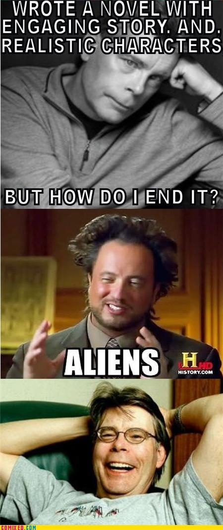 Dammit, Stephen King, Under the Dome was awesome, until the end.  But how else would you explain the dome?