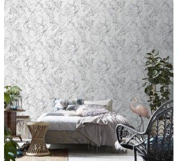 Papier Peint Dalles de marbre blanc grisé