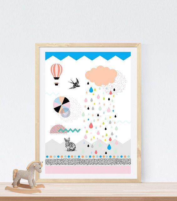 ILUSTRACJA Sweet Dreams - Printlove - grafiki do wnętrz, ilustracje dla dzieci, plakaty. -