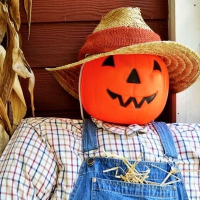 get the step by step instructions for building your very own front porch scarecrow