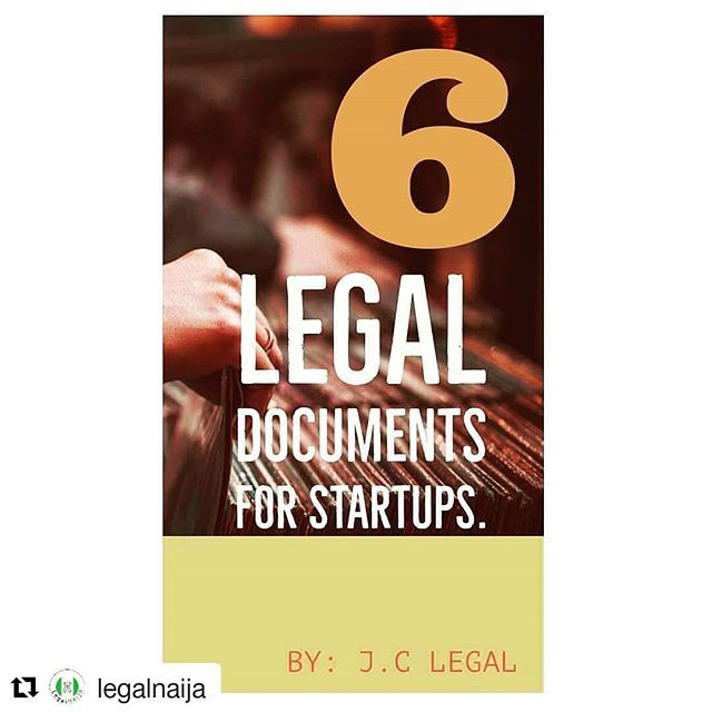 In my journey so far as an #entrepreneur I've learnt the hard to ensure that my paperwork is in order so I don't #sell myself short or get #cheated.. Please get #paperwork done..#Repost @legalnaija  @j.c_legal -  The most common mistake(s) founders at the early stage of their business make is NOT laying a strong legal structure before commencement. . . It is really important for startups to cover basic legal corners to prevent future legal battles. Below are few documents that startups need before commencement. . . Non-Disclosure Agreement Usually most conversations and idea bouncing takes place before signing an NDA. This is wrong Introducing an NDA is imperative before engaging in business conversations with outside parties. NDAs form part of your business shield by safeguarding the founders idea and mostly IP. . . Founders Agreement This is an operating agreement between the founders of the business. The agreement should clearly define the relationship of the each founder outline duties & provide expectations. In an unlikely event of dispute the agreement should outline the mode of conflict resolution. . . Shareholders Agreement If shares are involved Directors & CEOs should sign a shareholders agreement that determines the rights of each shareholder and when (if need be) those rights can be exercised. Those rights include: right to transfer shares right of first refusal and sale of shares. . . Intellectual Property Agreement. Founders should have exclusive ownership of all IP assets. However there are two types of IP agreements to consider: a) Technology Assignment Agreement. b) Invention Assignment Agreement. . . Client Agreement  This applies to startups that provide services. A client Agreement sets out the terms and conditions of service. This includes clients obligations business obligations and liabilities. . . Employment/Contractor Agreement.  This agreement applies when a startup decides to bring on new employees to assist in growing your business. The contract ideally should set out the roles remuneration benefits entitlements and expectations amongst others. . Do you have all your Legal documentsIf you