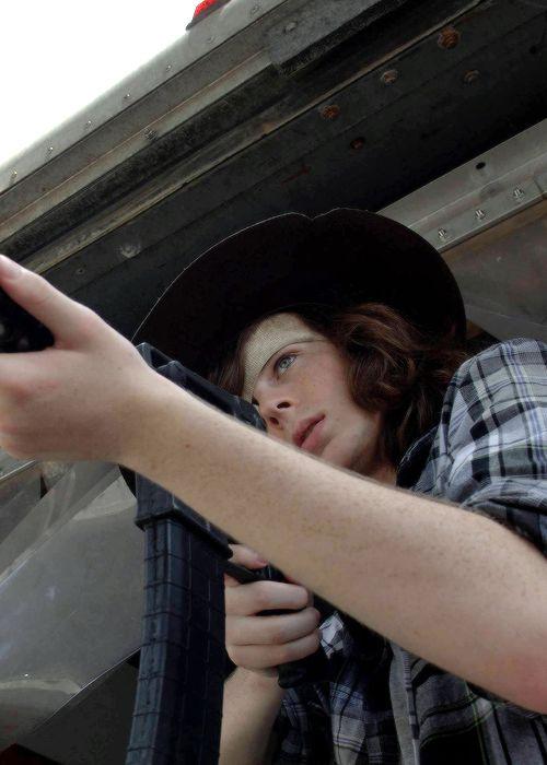""" Carl Grimes in The Walking Dead Season 7 Episode 7 | Sing Me a Song """