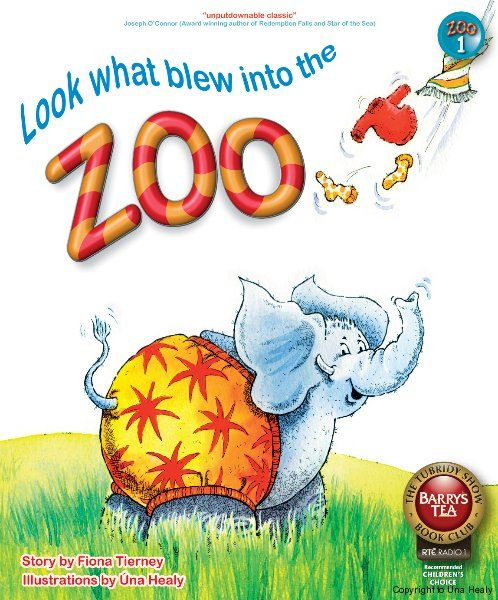 Look What Blew into the Zoo - Childrens' Book Front Cover