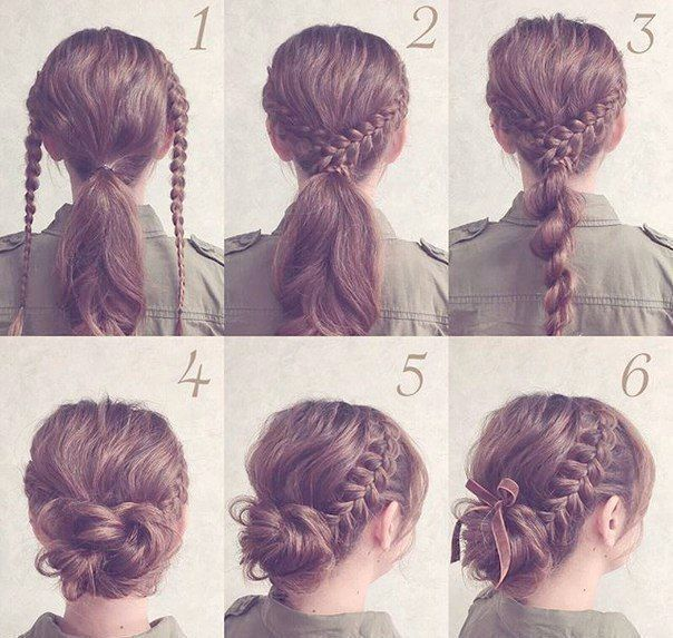 Easy Braided Hairstyles For Shoulder Length Hair Till Hairstyles Acnl Easy Hai Acnl Br In 2020 Lazy Hairstyles Braided Hairstyles Updo Braided Hairstyles Easy