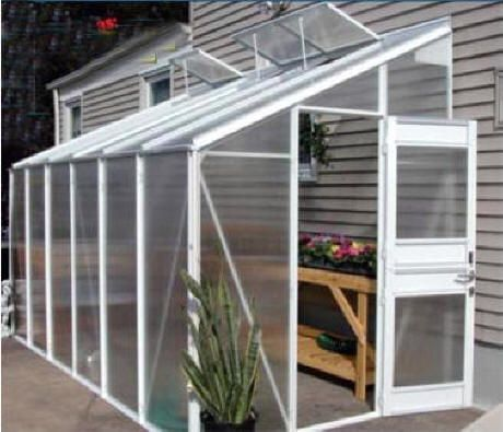 aluminum lean to greenhouses offer a beautiful and serious growing environment attached to side of