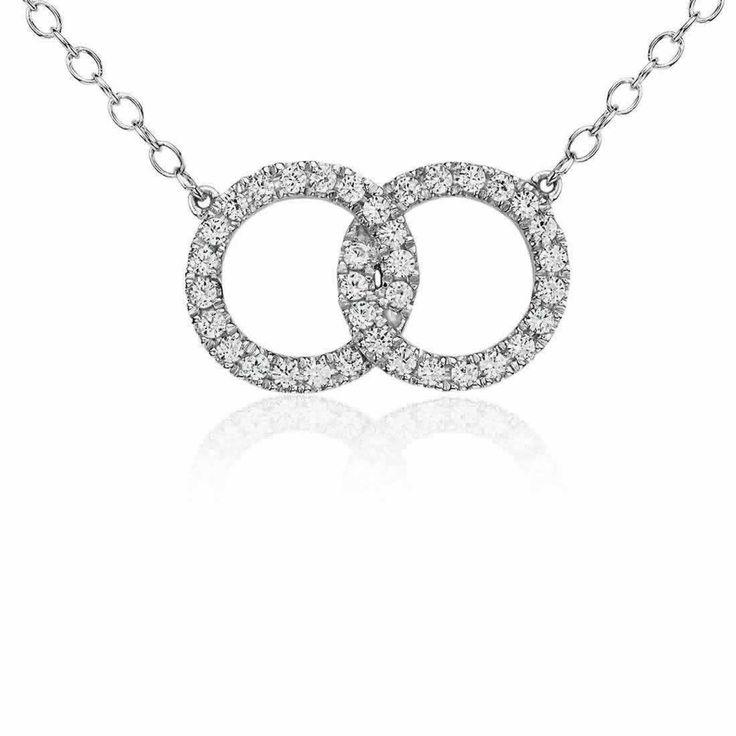 Infinity Ring Diamond Pendant in 9K White Gold (0.36ct tw) | The Diamond Channel, Johannesburg