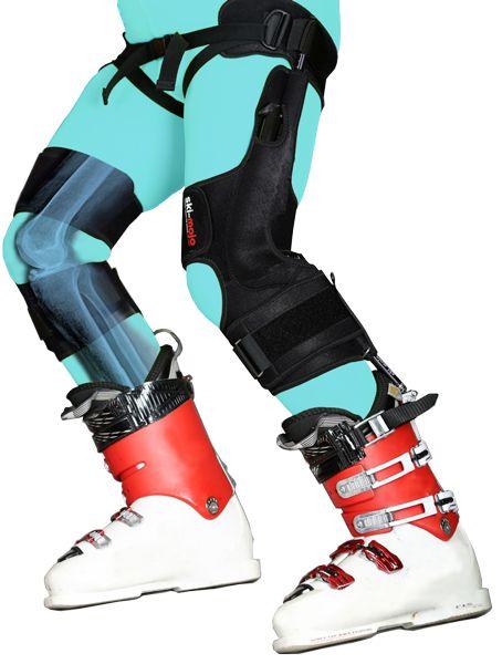 Le Ski-Mojo réduit d'1/3 la pression sur l'articulation. Il permet de skier en réduisant la fatigue musculaire et les douleurs articulaires.