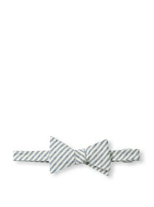 78% OFF Ivy Prepster Men's Educated Railroad Stripe Bow Tie, Blue