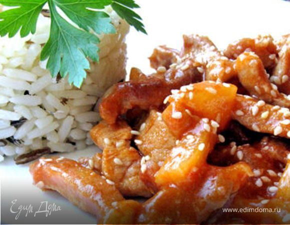 Достаточно известное китайское блюдо, с потрясающим кисло-сладким соусом. Подается во всех ресторанах с китайской кухней. Я решила повторить его дома.