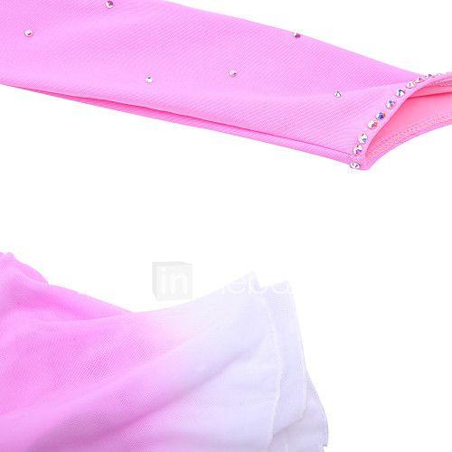 Vestido de Patinaje Sobre Hielo Mujer Mangas largas Patinaje Vestidos Alta elasticidad Figura vestido de patinajeTranspirable / Listo 2017 - $59.99