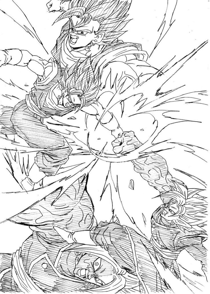 """Brawl! Vegito vs Zamasu!"" Drawn by: Young Jijii! Found by: Son Goku (Kakarot) #SonGokuKakarot"