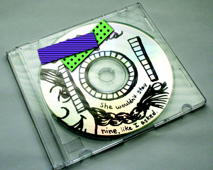 make a mix cd for kid for their birthday!  i love the creative drawing on this one.