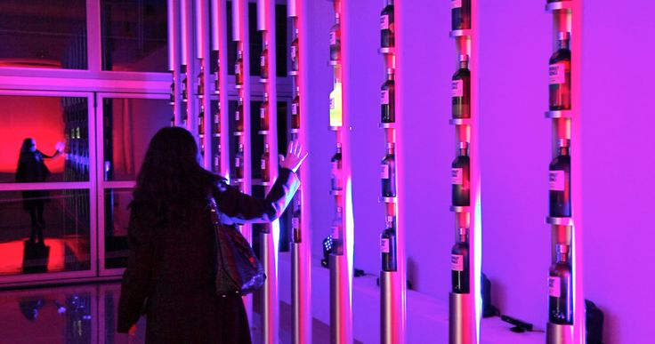 Interactive Lighting Installation for the event Absolut Unique for Pernot Ricard Greece. www.landoflight.eu Lighting Designer: Eleni Folerou Director: Memi Koupa Programming: 2Monochannels Agent: Newton