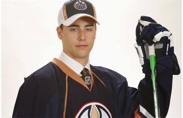 Jordan Eberle poses for a photo after the Edmonton Oilers select him with the 22nd overall pick at the 2008 NHL Entry Draft in Ottawa on June 20, 2008.