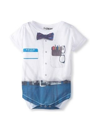 52% OFF Faux Real Kid's Nerd Romper (White)