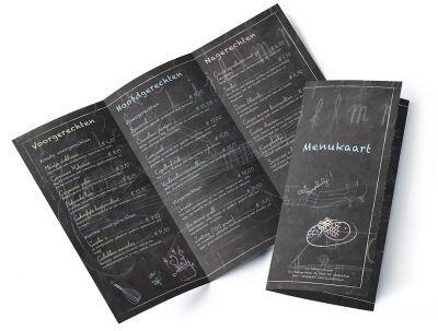 Menukaart Krijtbord Een speelse menukaart, getekend op een krijtbord!