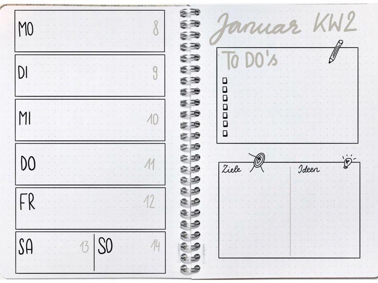 Starte jetzt dein Bullet Journal