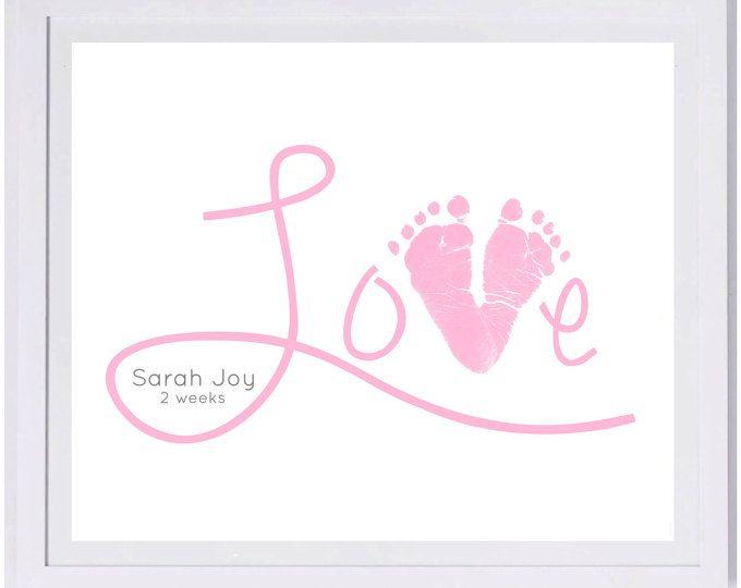 Baby Fußabdruck Kunst Forever Drucke übergeben und Fußabdruck