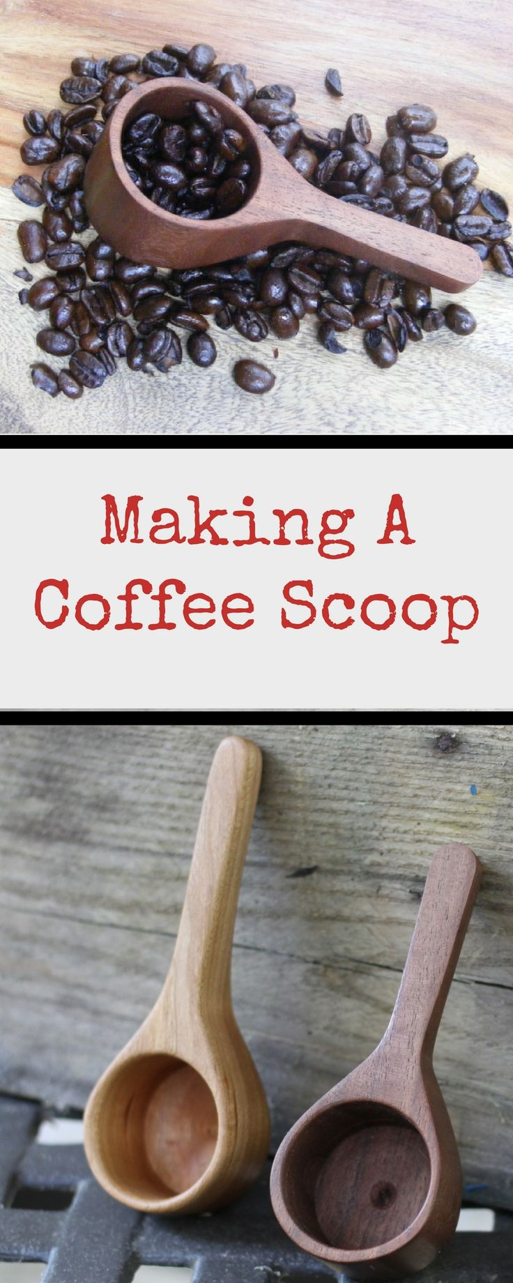 DIY Woodworking Ideas Learn step-by-step how to make a beautiful coffee scoop made out of wood. These ...