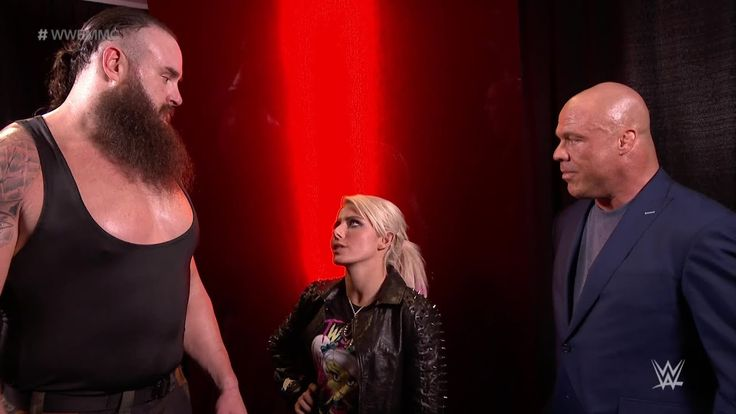 Kurt Angle pairs Alexa Bliss and Braun Strowman for WWE Mixed Match Challenge - YouTube