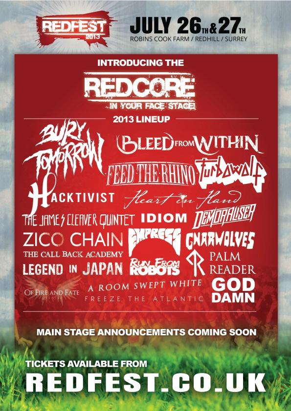 RedFest 2013! http://www.thisfestivalfeeling.com/festival/redfest
