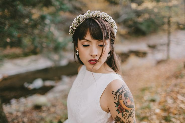 Tattooed bride at Fullmoon Resort