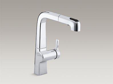 KOHLER | K 6331 CP | Evoke® Single Hole Kitchen Sink Faucet