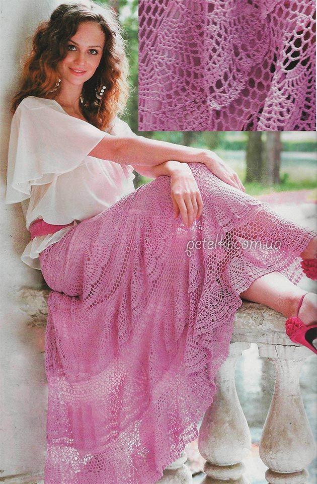 ergahandmade: Long crochet skirt + Diagrams