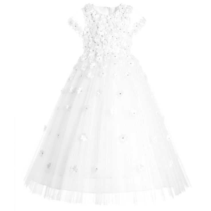 Couche Tot Girls White Occasion Dress at Childrensalon.com