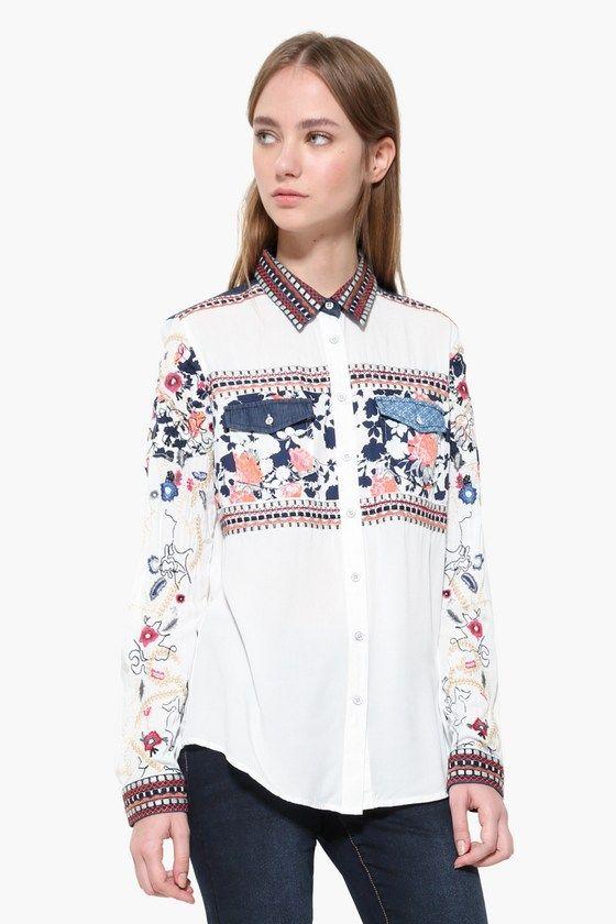 Atrévete a ser ¡Desigual! y disfruta del lado amable de la vida. ¡Descubre  la nueva colección 2017 de mujeres en Okilucky! Desigual camisa ... 2f9a5bac71764