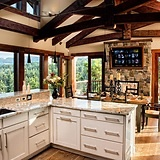 Cabin Kitchens Cabin And Kitchens On Pinterest
