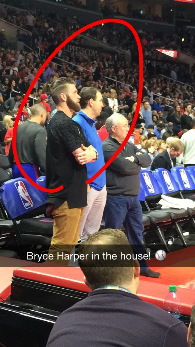 Bryce Harper In The House Mlbofficial Clippers