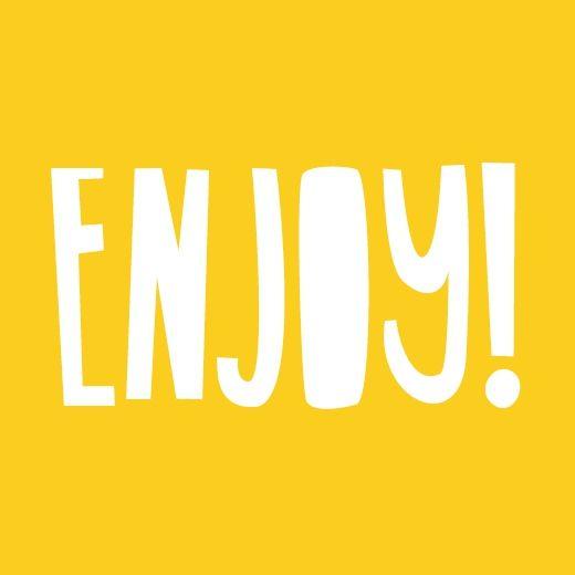 Sticker kanariegeel ENJOY! (10 st.)