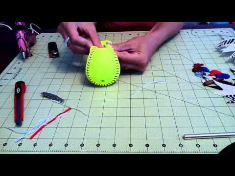 How to make a softball bow? - YouTube - might come in handy on how to make those softball flip flops