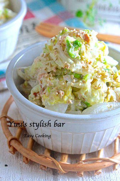 これ、味見が止まら〜ん!『白菜たっぷり♪柚子おかかサラダ』♡白菜の ...