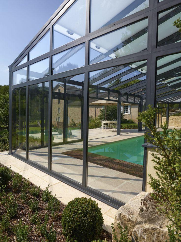 La piscine paysag e par l 39 esprit piscine 10 x 4 5 m for Prix abri de piscine 8 par 4