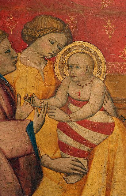 Detail of the Birth of the Virgin by Cennino Cennini