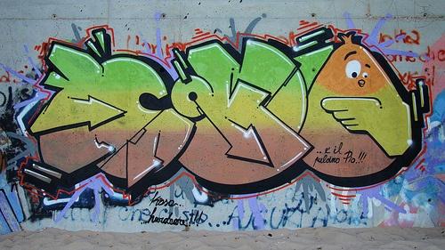 Pulcino Pio in versione street art (Koso Hardcore, Salento 2012)
