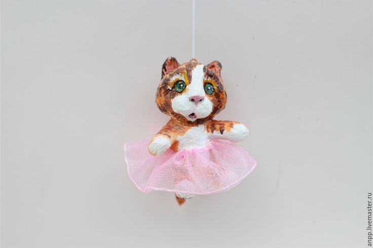 Купить Ёлочная игрушка - елочные игрушки, рыжий, кошка, новогодний декор, новый год 2017