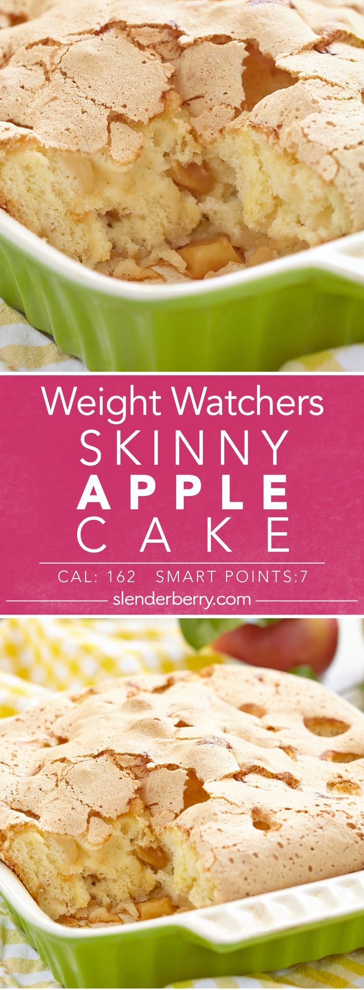 Weight Watchers Skinny Apple Cake Recipe -  7 Smart Points 162 Calories