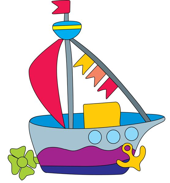 Toy Train Clip Art | Clip Art of a Toy Boat